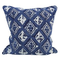 Havana indigo cotton cushion 50x50cm