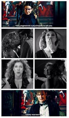 "Tasha Lem is River Song because too much in common to be coincidence: 1) Hello, xxx; 2) flirting; 3) psychopath; 4) regeneration; 5) lew = mel; 6) ""never been able tame that man"""