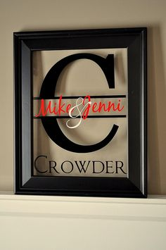 Personalized Family Name Sign Picture Frame by mrcwoodproducts