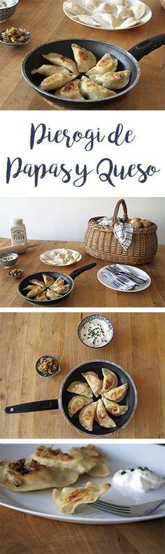 Receta para hacer empanadillas polacas: Pierogi de queso y papa