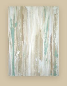 "Art Acrylic Abstract Painting on Canvas Titled: WHITEWASHED 2 30x40x1.5"" by Ora Birenbaum"