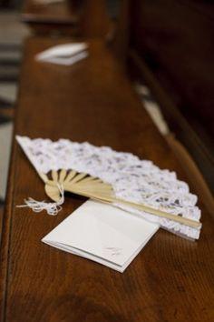 lace wedding fan