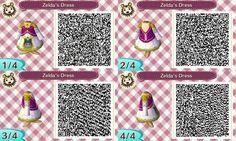 Princess Zelda QR code for Animal Crossing New Leaf.