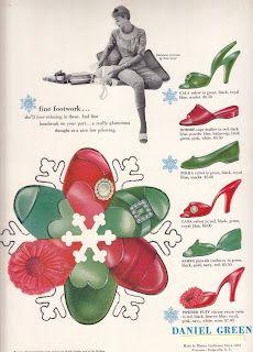 5 1/2 1930\'s Boudior Daniel Green Vintage Blue Slippers | Daniel ...