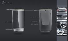 Mercedes cell phone by Rotimi Solola, via Behance