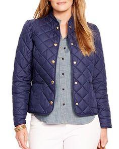 Lauren Ralph Lauren Plus Diamond Quilt Jacket   Bloomingdale's