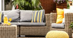"""Outdoor Living space ideas"" Outdoor Fabric, Outdoor Sofa, Outdoor Living, Outdoor Furniture Sets, Outdoor Decor, Outdoor Ideas, Home Design Decor, Patio Design, Interior Design"