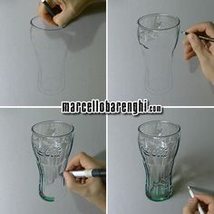 Marcello Barenghi: Coca Cola Green Glass - drawing phases