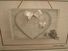 Targhe con cuore shabby chic