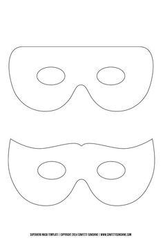 Super Hero Mask : free template -
