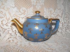 Vintage Blue Hall Teapot. $70.00, via Etsy.