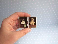 OOAK miniaturen TEDDY Puppe Spielzeug für von YuliyasOOAKdolls
