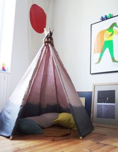 ombre play tent for the kids...