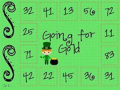St. Patrick's Day double digit subtraction without regrouping