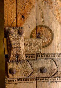 Door detail Musmak Fort, Riyad, Saudi Arabia