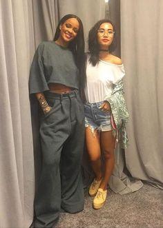 Rihanna Fenty x Puma Fall 2016 grey oversized trousers