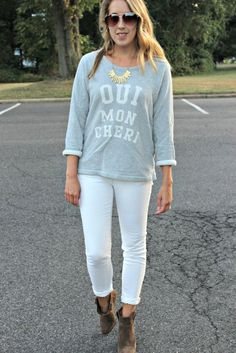 Wearing: The White Jeans - how you can wear white after Labor Day