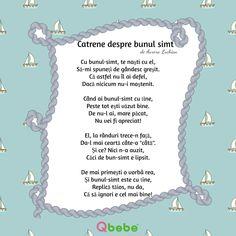 Catrene despre bunul simt Kids Poems, Kids Education, Art For Kids, Words, Homeschooling, Respect, Art Projects, Projects, 1st Grades