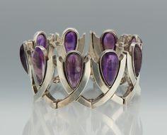 Bracelet | Antonio Pineda.  Sterling Silver and Amethyst