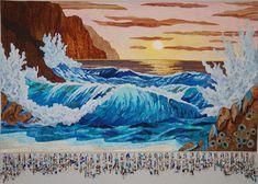 Picture, Donna Cherry, Art quilt, landscape quilt, A place of Refuse, quilting, ocean art, art