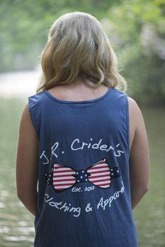 J.R. Crider's Clothing  Apparel — The Stars  Bars Tank Top