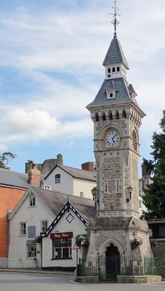 The Clock Tower at Hay on Wye