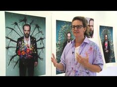 Artist Del Kathryn Barton (in her studio) discusses the techniques and processes involved in creating her art work of actor Hugo Weaving. Del Kathryn Barton, Hugo Weaving, Australian Painting, Art And Craft Design, Design Language, Painting Videos, Art Journals, Artist At Work, Art Tutorials