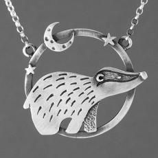 badger under the moonlight necklace by katie stone