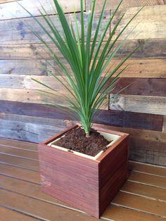 Up cycled jarrah timber into planter... - nailed it!!
