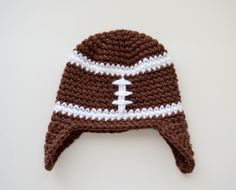 cab547a69db8c football beanie for the baby googiemomma  crochet instructions from someone  who actually knows what they