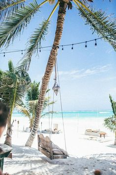 Have your own beach Paradise in Tulum, Mexico. | follow @shophesby for more gypset boho modern lifestyle + interior inspiration