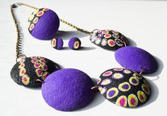 Necklace + ring + mini earrings  #polymerclay #fimo #handmade