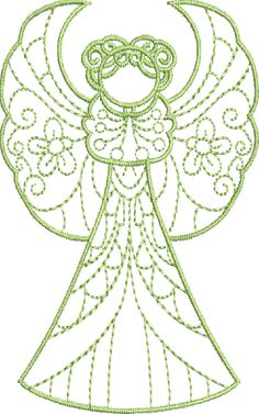 Crystal Angels - Machine Embroidery Designs at Splinters & Threads
