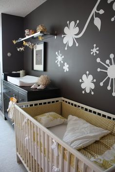 Dark nursery walls
