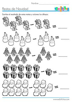 ¿Suma o Resta? Con estas fichas de actividades los niños aprenderán la diferencia entre sumas y restas. El ejercicio que proponen estas fichas es incluir el signo de suma o de resta, según corresponda en cada una de las operaciones de números y resultados de una sola cifra. Actividades con números de una sola cifra: ... Ver más...