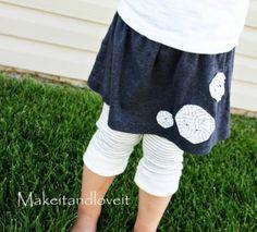 Repurpose old Shirt to Skirt/Leggings by Selkie~gal