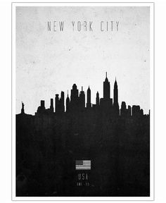Poster - New York City Contemporary Cityscape von Calm The Ham - fablife.de
