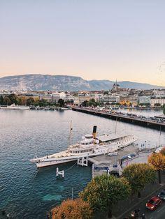Switzerland Destinations, Switzerland Hotels, Geneva Switzerland, Travel Destinations, Carlton Hotel, Winter Travel, River, Outdoor, Geneva