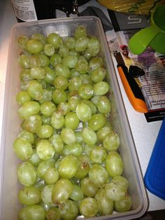 grapes stay firmer and fresher, yummy!
