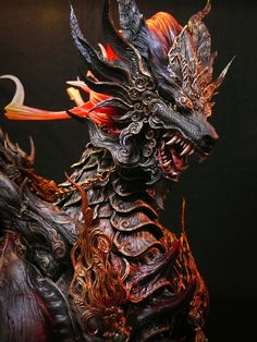 Kirin - Resin Kit - buy Model Kits for Model Masters Mythological Creatures, Fantasy Creatures, Mythical Creatures, Toy Art, Dark Fantasy, Fantasy Art, Dragon Oriental, Cool Dragons, Dragon Design