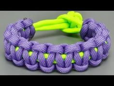 How to make Basic Cobra paracord bracelet without Buckles - YouTube