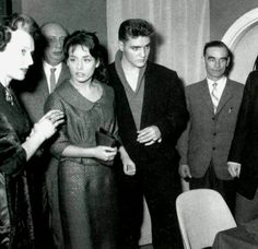 Elvis and Vera Tschechowa in Munich ( Germany ) in april 4 1959.