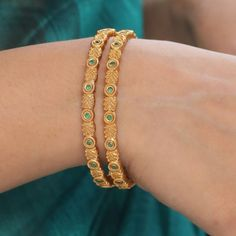 Buy the best Bangles Indian Jewelry online from the top Bangles manufacturer. Shop Pari Antique Bangles online from the top brand for the best traditional and classy looks. Gold Bangles Design, Gold Jewellery Design, Silver Bracelets, Silver Jewelry, Crystal Jewelry, Pendant Jewelry, Jewelry Art, Bangle Bracelets, Silver Rings