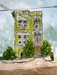Victorian Town House, San Francisco set by Tony Underhill and sent in by Stephen Slater The Artist Magazine, Town House, Magazines, Exercises, San Francisco, Victorian, Projects, Painting, Journals