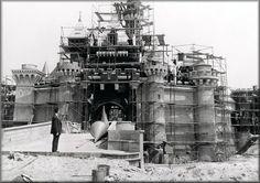The construction of Disneyland. Taken in 1955.
