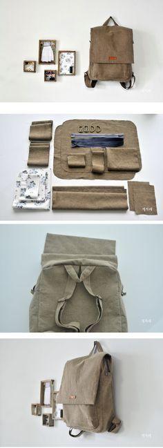 Step To Step Backpack DIY fastmade.blogspot.com/2016/12/how-to-make-pretty-backpack.html #backpackingdiy