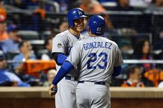 Corey Seager, Adrian Gonzalez, LAD//Game 4 NLDS at NYM, Oct 13, 2015