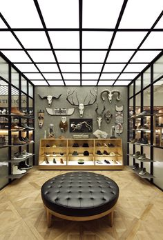 """His Crib"" Newly opened men's wear speciality store by South Korea's leading department store Shinsegae. The shop interior design concept  is derived from the name of the store the home of a fictional character"