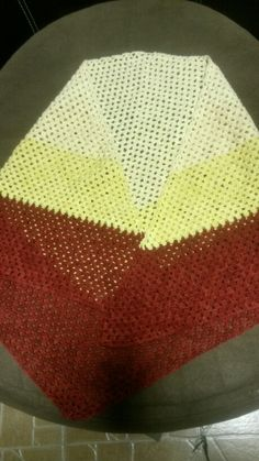 Fingering weight Triangle shawl.