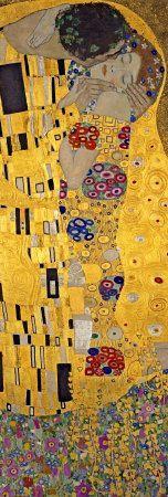 Gustav Klimt - Öpücük, The Kiss, c.1907 (detay) - Reprodüksiyon